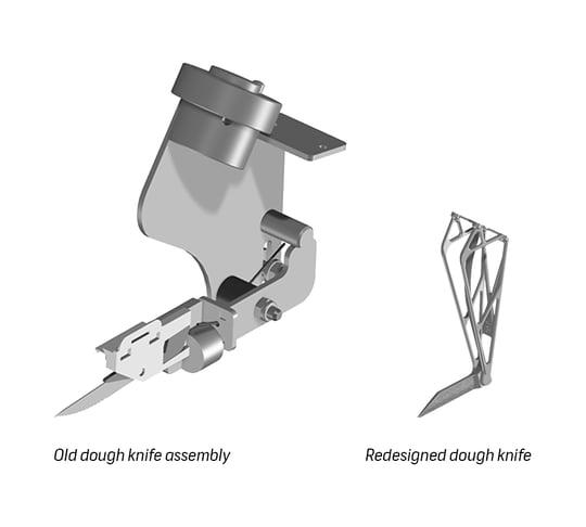 K3D - 3D printed porous dough knife